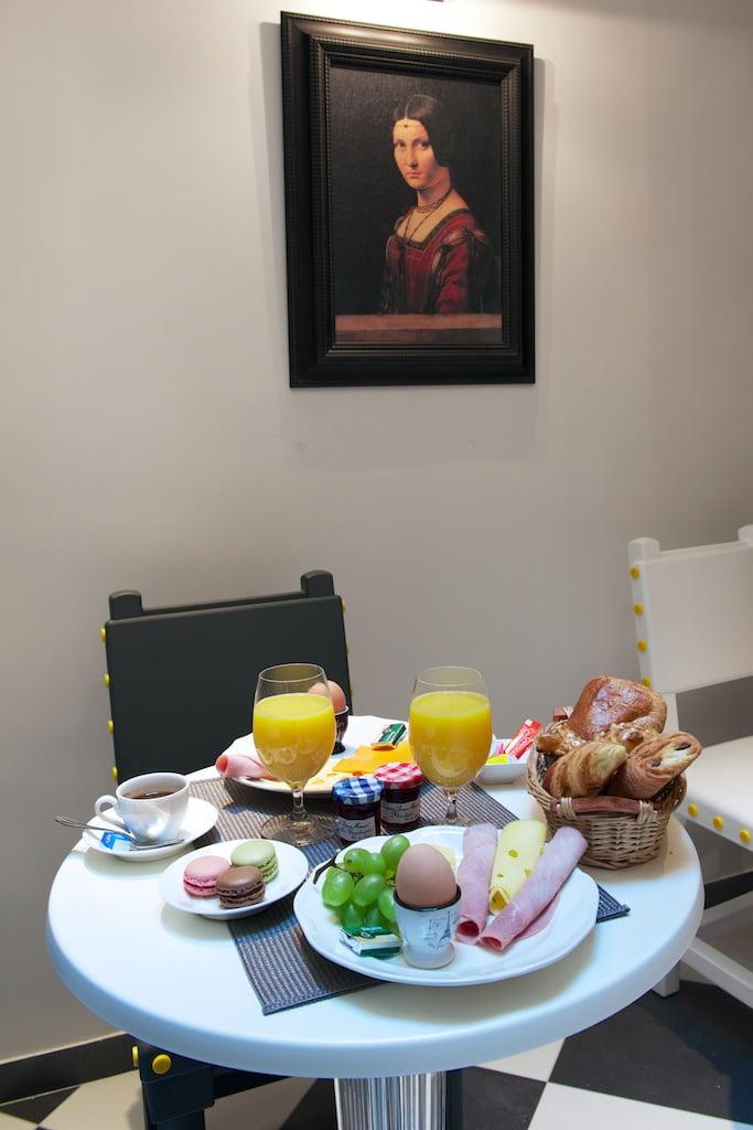 Petit déjeuner Hotel le Clos Notre Dame